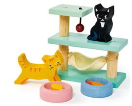 Poppenhuis Huisdierenset - Katten  - Tender Leaf Toys