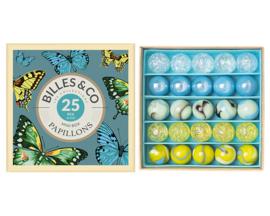 Billes & Co Knikkers in doosje, Mini Box Papillons/Vlinders, 25 stuks