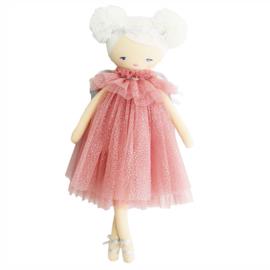 Alimrose Knuffelpop, Ava Angel Doll Blush Silver, 48 cm
