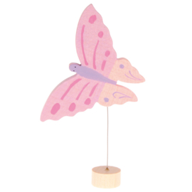 Grimm's Decoratiefiguur / Steker Vlinder Roze