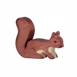 Holztiger Houten Eekhoorn bruin staand