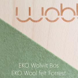 Wobbel XL blank gelakt - vilt bos - vanaf 140 cm