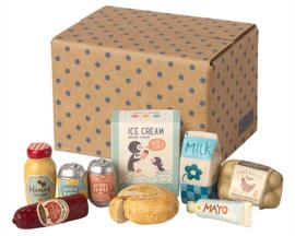 Maileg Doos met Boodschappen, Miniature grocery box