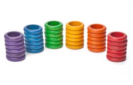 Grapat Ringen, 36 stuks, basiskleuren