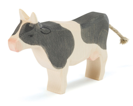 Ostheimer Houten Koe zwart gevlekt