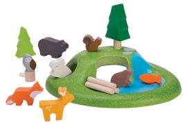 Plan Toys Houten Bosdieren 'Animal Set'