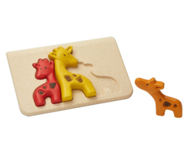 Plan Toys houten puzzel giraf familie