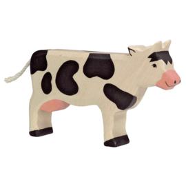 Holztiger Houten koe zwart wit