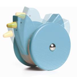 Bajo Grote houten wiebel kip, blauw