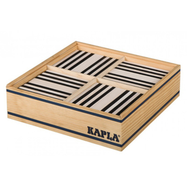 Kapla 100 plankjes zwart wit in kist