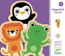 Djeco Houten Magnetische Dieren Coucou Jungle
