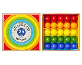 Billes & Co Knikkers in doosje, Mini Box Rainbow/Regenboog, 25 stuks