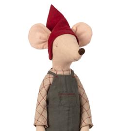 Maileg Muis, Christmas Mouse Maxi Boy, 56cm
