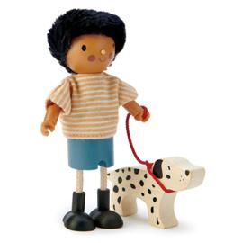 Poppenhuis Popje - Mr. Forrester met Hond - Tender Leaf Toys