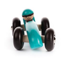 Bajo Houten Retro Racewagen, blauw