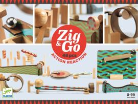 Djeco Zig & Go, Actie-Reactie-Baan, 48-delig