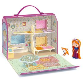 Djeco Tinyly draagbaar poppenhuisje, Maison de Bluchka & Indie