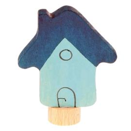 Grimm's Decoratiefiguur / Steker Huisje Blauw
