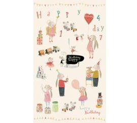 Maileg inpakpapier, Happy Day, 10 meter op rol