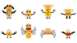 Djeco KINOPTIK Bouw en Animatie Set, Animonsters