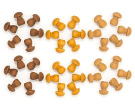Grapat Mandala Paddenstoelen Bruin, 36 stuks