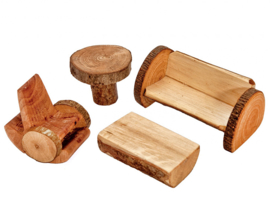 Magic Wood Woonkamer set voor Poppenhuis/ Boomhuis