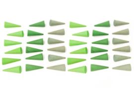 Grapat Mandala Kegels Groen, 36 stuks