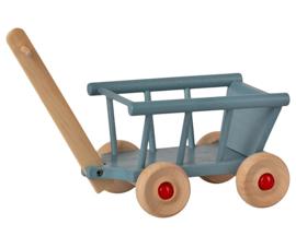 Maileg Houten Bolderkar, Wagon Blue