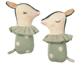 Maileg Rammelaar Sleepy Wakey Bambi, Dusty Mint