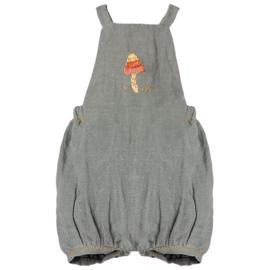 Maileg Overall  / Tuinbroek voor konijn Size 5, Dusty Blue
