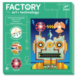 Djeco Factory Elektro Art Kaarten, Robots, 8+