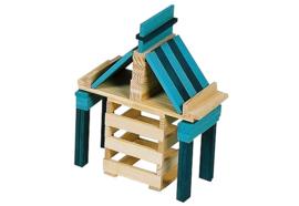 Kapla 40 plankjes in kistje, groen