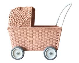 Olli Ella Poppenwagen Strolley Roze