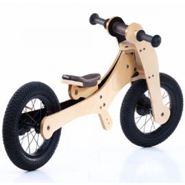 Trybike Wood 4-in-1 loopfiets Bruin/Zwart