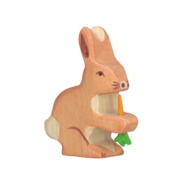 Holztiger Houten Konijn / Haas met wortel