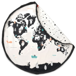 Play & Go Speelkleed / Opbergzak Worldmap, Dubbelzijdig