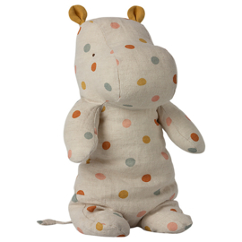 Maileg Knuffel Nijlpaard Safari Friends Medium Hippo, Multi Dots
