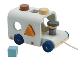 Plan Toys Vormenstoof Bus, Sorting Bus, Orchard