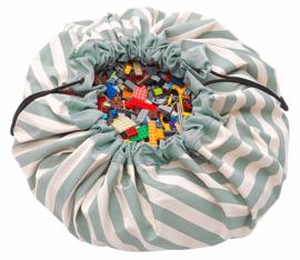 Play & Go Speelkleed / opbergzak Stripes Groen