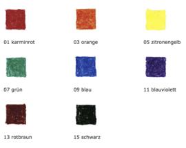 Stockmar Bijenwaskrijtjes, blokjes 8 kleuren in blikje