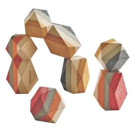 Plan Toys Stapelstenen, Geo Stacking Rocks