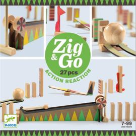 Djeco Zig & Go, Actie-Reactie-Baan, 27-delig