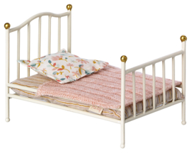 Maileg Metalen Poppenbed, Vintage Bed, Mouse, Micro, Wit