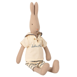 Maileg Rabbit Size 2, Sailor Off White/Petrol, 32 cm