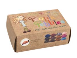 Crayon Rocks People Pebbles, 12 krijtjes in haar- huid- en oogkleuren