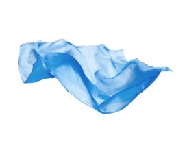Sarah's Silks Speelzijde, Hemelsblauw, 53 x 53 cm