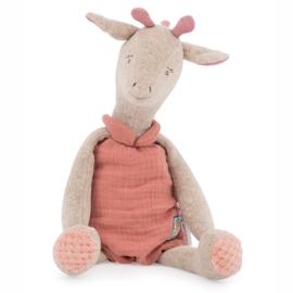 Moulin Roty Knuffel Giraffe in geschenkdoos, Bibiscus