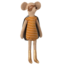 Maileg Superheld Muis Maxi Meisje, Super Hero Mouse Maxi Girl, 50cm