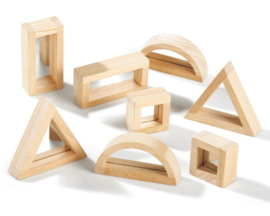 TickiT Spiegel Blokken, Mirror Block Set, 8-delig