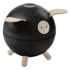 Plan Toys Spaarvarken, Piggy Bank, Zwart
